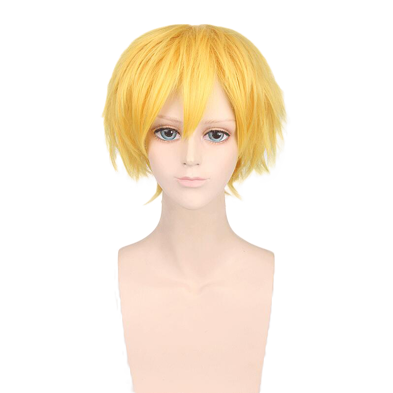 Sword Art Online Alicization Eugeo Synthesis Thirty-two Golden Short Wig Cosplay Costume SAO Hair Halloween Party Wigs