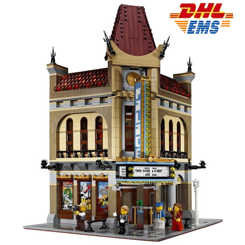 MTELE 2354 Pcs City Street Palace Cinema Model Building Blocks Set Figures Bricks Toys Compatible With Lego 10232 2016 new lepin 15006 2354pcs creator palace cinema model building blocks set bricks toys compatible 10232 brickgift