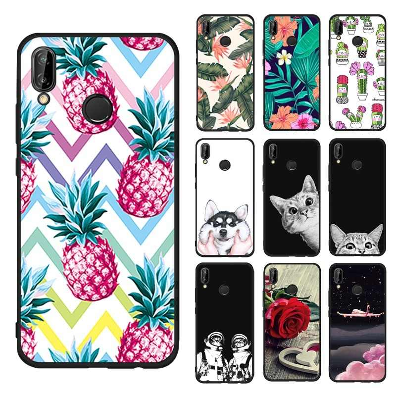 Silicone Case For Huawei P10 Mate 10 Lite P20 Pro Nova2i Y9 Enjoy 8 Plus P9 P8 Lite 2017 Cute Pineapple Pattern Cover Coque Capa