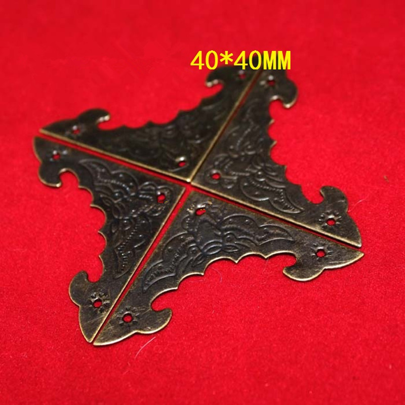 Filigree Triangle Bat Coner Cabochon,Ancient Bronze Corner,Flatback Metal Embellishments Scrapbooking,Decor For Wooden Box,10Pcs