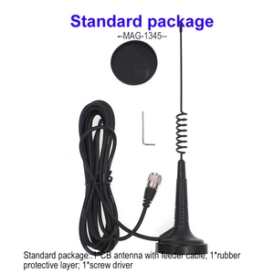 Image 5 - CB Radio Antenna with Magnet Base 26 28MHz  Mag 1345 with 4 meters feeder Cable with PL259 connector for CB 27 CB 40M AR 925