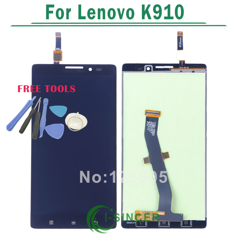 1/PCS K910 LCD Display For Lenovo VIBE Z K910 LCD Screen with Touch Screen Digitizer Assembly Black color