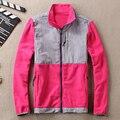Burrima Женщины Топ Флиса Куртки Водонепроницаемый Лоскутное Вышивка Пальто Горячие основные Пальто S-XXL 15 цвета