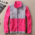 Burrima Women Top Fleece Jackets Waterproof Patchwork Embroidery Overcoat Hot basic Coat S-XXL 15colors available