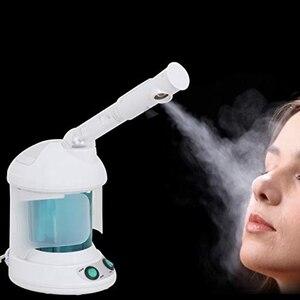 Image 4 - 2 en 1 ozono Facial Spray Steamer, con brazo extensible \ Table Top Mini Spa diseño de la cara, 360 grados Rotatable Spray Head