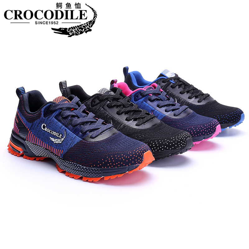 Купить с кэшбэком Crocodile Men Marathon Running Sneakers Breathable Sport Shoes Cushioning Jogging Shoes Male Athletic Tennis Shoes Women Trainer