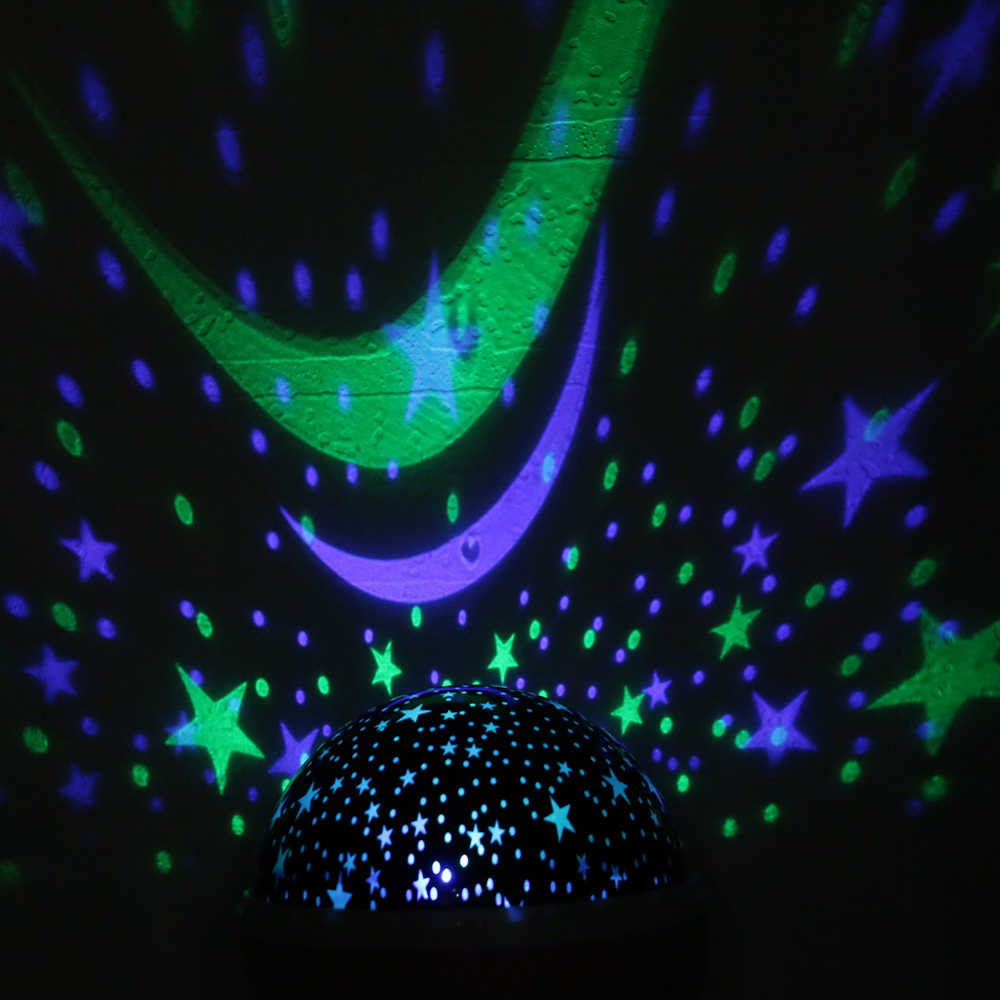 Новинка светодиодный проектор с вращающейся звездой светящаяся Луна подсветка в виде звездного света игрушки ночник спящий свет Батарея аварийная проекционная лампа
