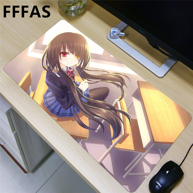 FFFAS 80x40cm L XL XXL Japan Anime large Mousepad gaming Mouse pad wife girl friend sister Nightmare Tokisaki Kurumi DATE A LIVE цена 2017