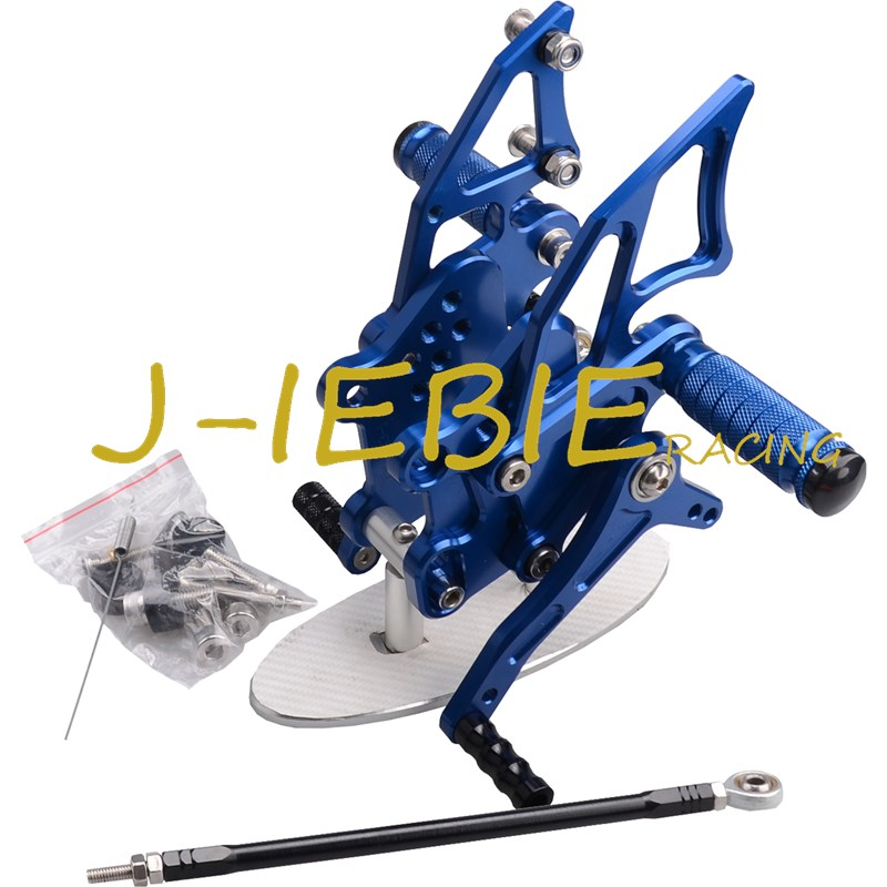 CNC Racing Rearset Adjustable Rear Sets Foot pegs Fit For Kawasaki NINJA EX300 300R 2013 2014 2015 BLUE