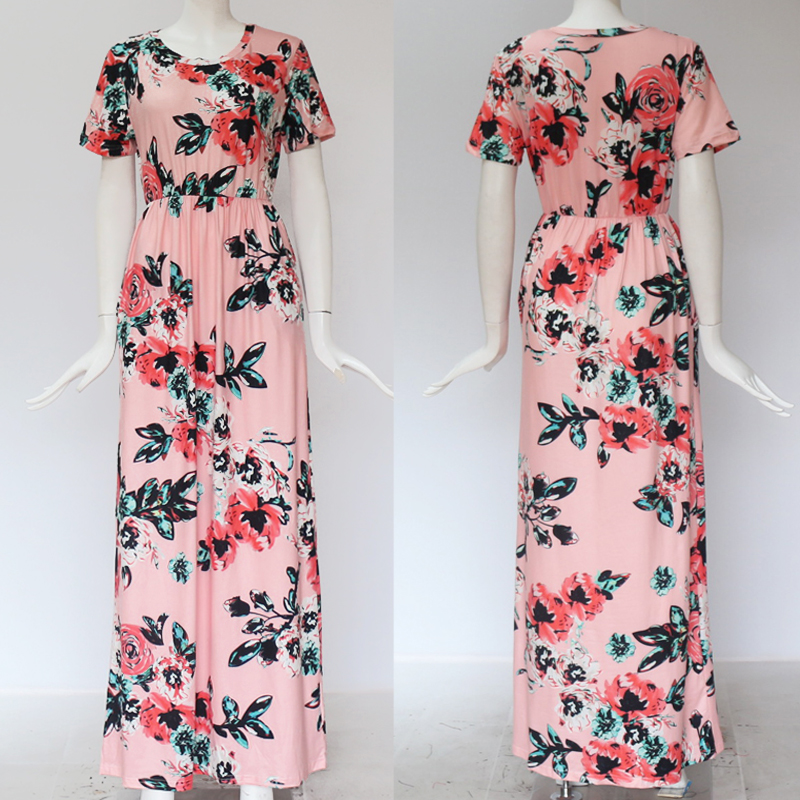 19 Summer Long Dress Floral Print Boho Beach Dress Tunic Maxi Dress Women Evening Party Dress Sundress Vestidos de festa XXXL 27