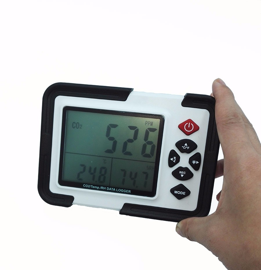 HT-2000 Digital CO2 Monitor CO2 Meter Gas Analyzer detector 9999ppm CO2 Analyzers With Temperature and Humidity Test 9999ppm carbon dioxide co2 monitor detector air temperature humidity logger