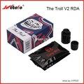 Original Wotofo El Troll RDA V2 Tanque 10mm Más Profundo Cubierta Revertir Ajustable 510 Pines Cigarrillo Electrónico Atomizador