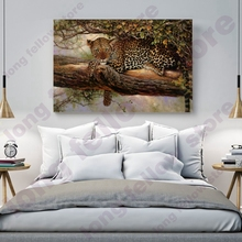 Leopard Kneeling on the Tree Posters and Prints Animal Picture for Dining Room Office Wall Decor Artwork Home Art