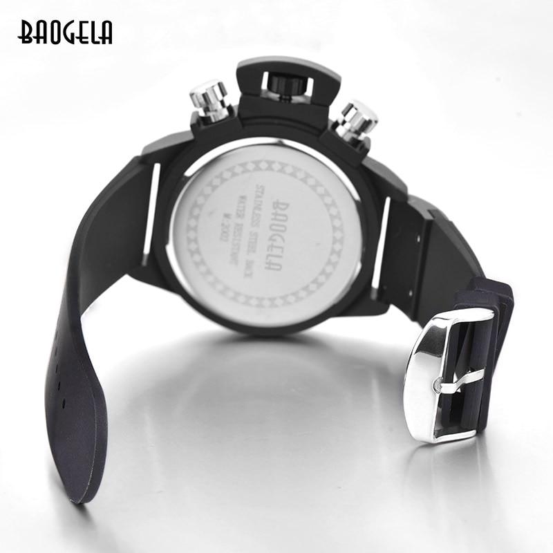 Baogela Moda Kişi Kvars Qol Saatları İdman Chronograph Montre - Kişi saatları - Fotoqrafiya 6