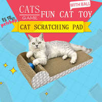 YUBEI Cat Scratcher Cardboard Pad With Ball Squeak Toys Fun Pet Products Cat Toy Supplies Scratchers for Cat Toys Play Games