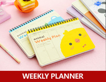 New daily planner , animal weekly planner as appointment book for diary , notebook , school stationary
