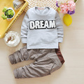 spring and autumn newborn baby suit boys and girls children's clothing brand tracksuit baby T shirt + pants 2pcs Free shipping