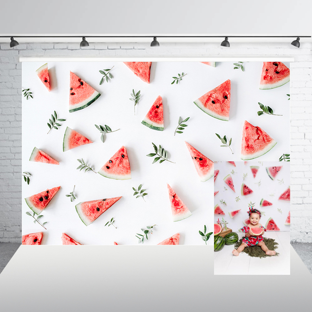 Photography Backdrop Birthday Photocall Watermelon Painting Baby Shower Custom Background Photo Background Photophone W-1720