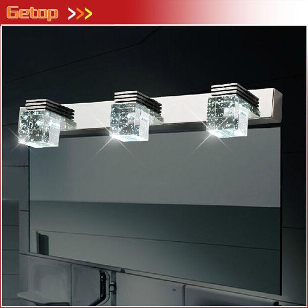 Best Price Modern Bathroom Crystal Lights Wall Lamp 3 Led Light Cabinet Mirror