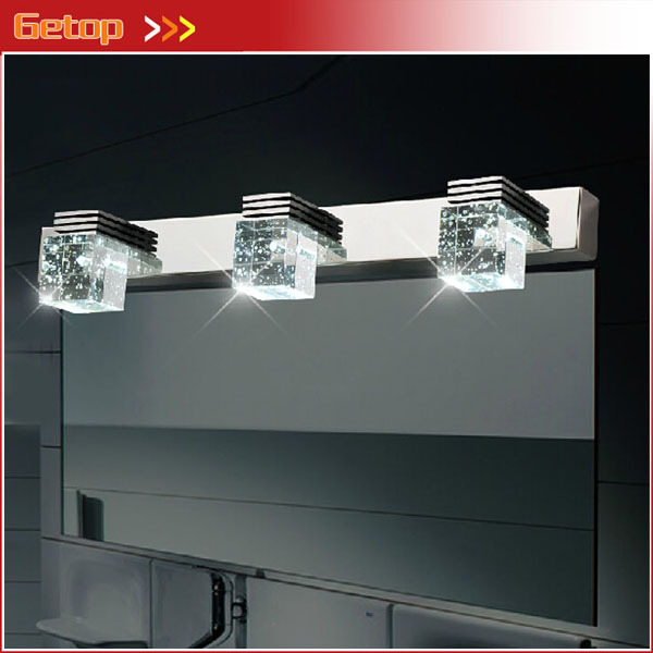 Best Price Modern Bathroom Crystal Lights Crystal Wall Lamp 3 Lights LED Bathroom Light Cabinet Mirror Light 3*3W Free Shipping kitaapbr181cycox01761ea value kit best hospitality wall cabinet aapbr181cy and clorox disinfecting wipes cox01761ea