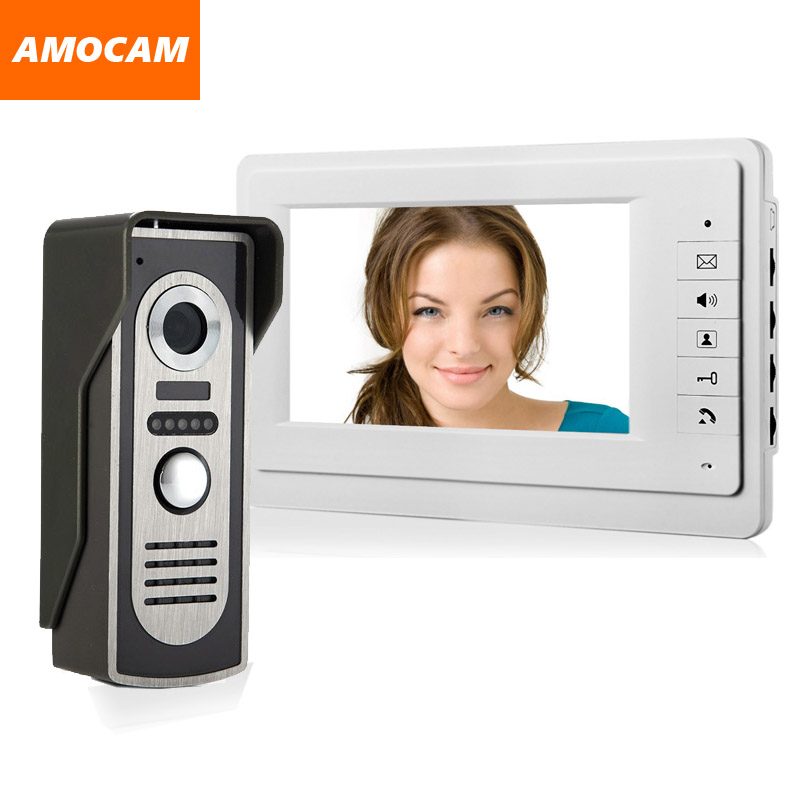 [ Special Offer ] 7 Monitor Video Doorbell Door Phone Kit IR Night Vision Door Camera Video Intercom visual intercom system