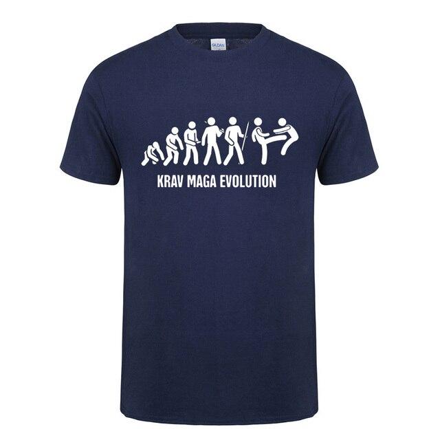 Krav Maga Israeli Martial Arts Evolution T Shirt Perfect Gift Funny Birthday Present For Men Boys Kids Children Cotton Shirts