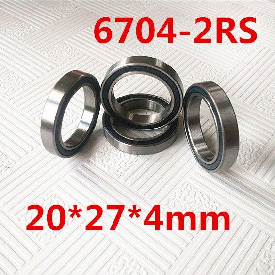 20x27x4 mm Metal Rubber Ball Bearing Bearings BLACK 6704RS 10 PCS 6704-2RS