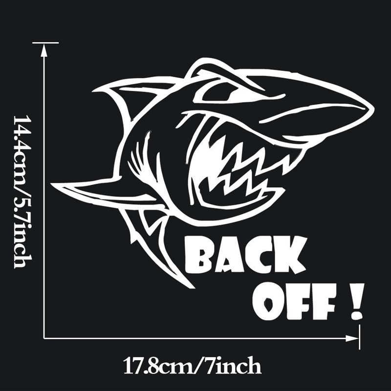 Wholesale 50pcs/lot <font><b>Back</b></font> Off Shark Car Decal Vinyl Funny <font><b>Sticker</b></font> For Window Truck Panel Bumper