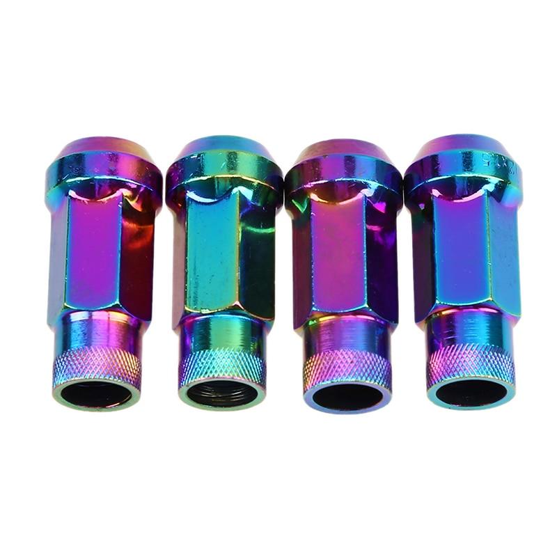 POSSBAY Universal Car Styling 20x Écrous de Roue Racing Lug Nuts Métal 48mm Extender Tuner M12x1.5/M12x1.25 dans Écrous et Boulons de Automobiles et Motos