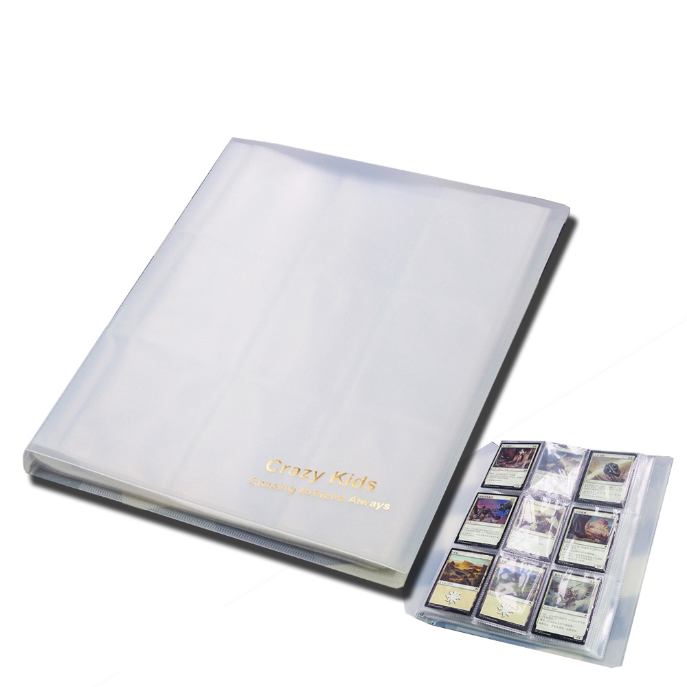 Carzy Kids Transparent MGT Cards Album With 9 Pockets Pages Hold 144 Cards For Magic/PKM/FOW/YGO