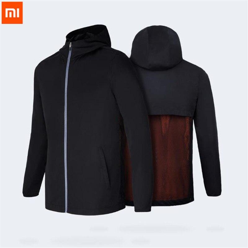 Agressief Xiaomi Mijia 7th 2 In 1 Carry Sport Zakken Jas Handig Wind Breakers Waterdichte Rugzakken Buiten Dragen Mannen Parka Veste D5 Aantrekkelijke Mode