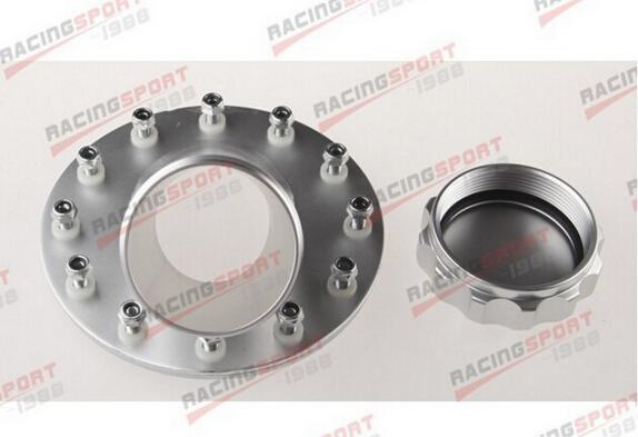 1.5 Inch Aluminum Remote Fuel Cell Filler Neck Flange 12 Bolt