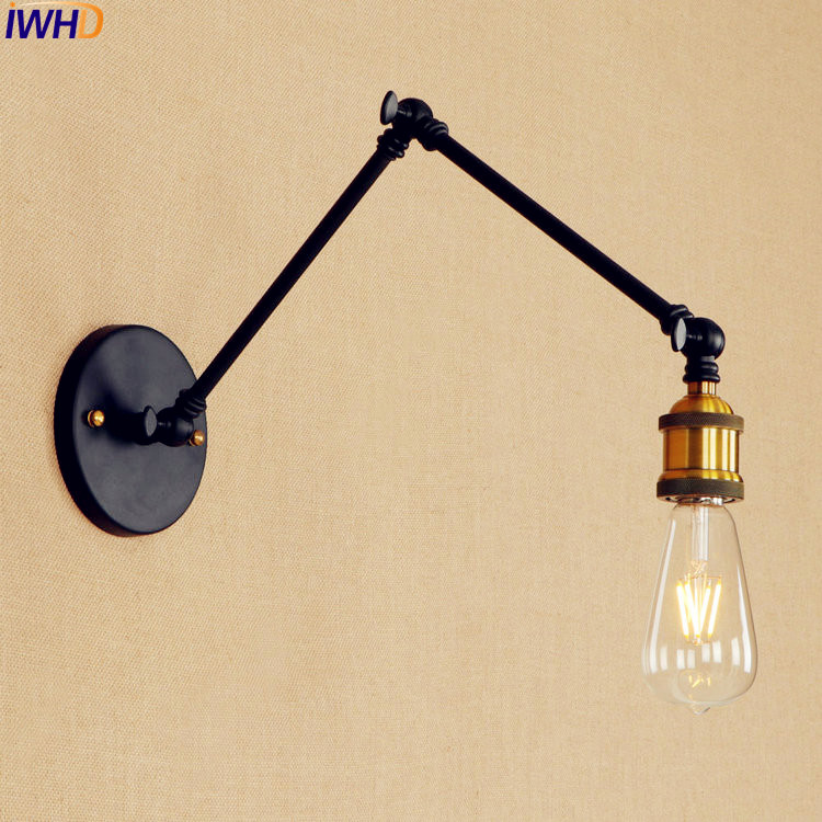 все цены на RH Retro Vintage LED Wall Light Fixtures Home Lighting Loft Industrial Style Adjustable Swing Long Arm Wall Lamp Stair Light