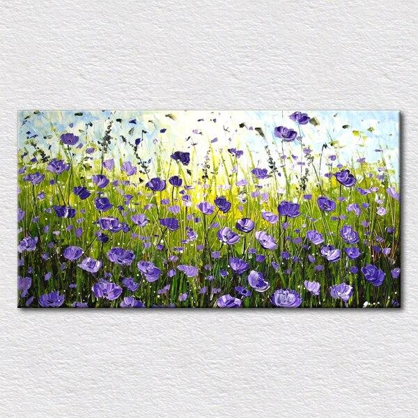 Peinture moderne sans cadre de décoration florale abstraite d'art de toile d'huile imprimée avec la taille 16x32 pouces pour accrocher au mur livraison gratuite