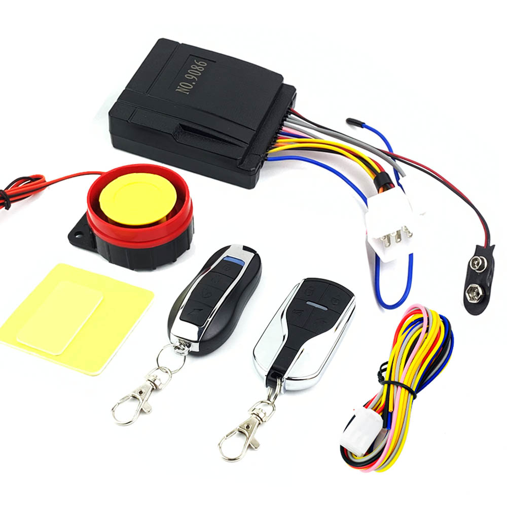 12v Motorcycle Alarm System Horn Scooter Remote Control Engine Start Keyless Entry Anti-line Cut Universal Moto Alarme Speaker