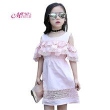 Girls Summer Dress 2019 New Fashion Kids Dresses for Girls Off-shoulder Princess Party Dress Children Clothing 4 6 8 10 12 Years