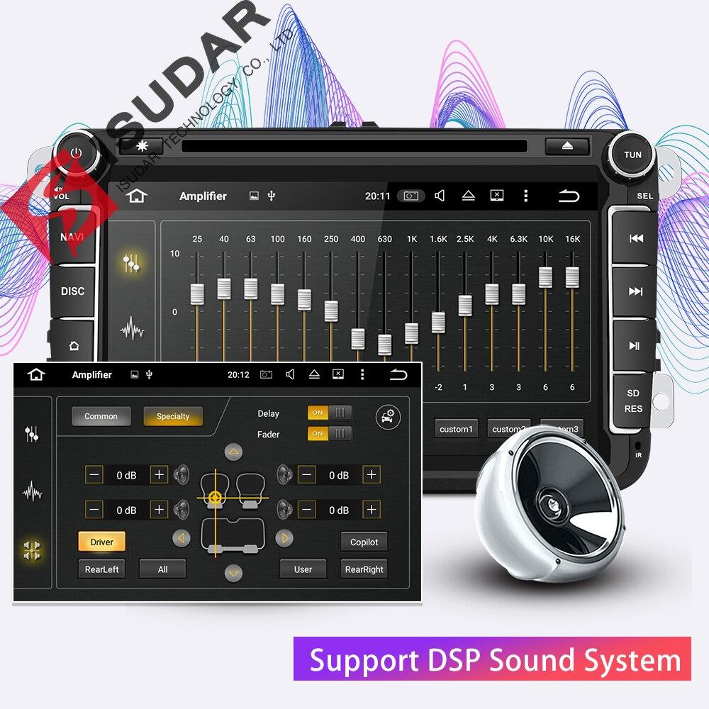 Isudar 2 Din reproductor Multimedia Android 8,1 Radio Auto para Skoda/Seat/Volkswagen/VW/Passat b7/POLO/GOLF 5 6 DVD GPS Quad-core - 3