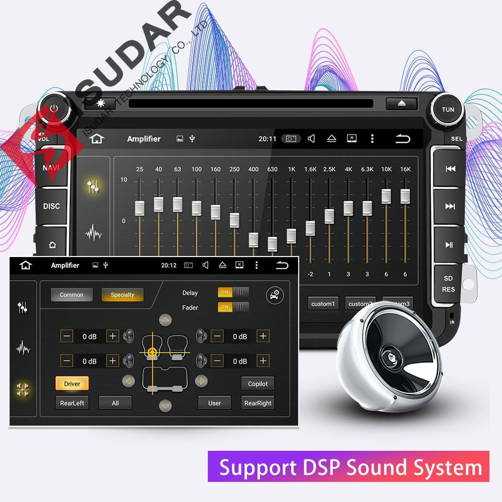 Isudar Deux Din Voiture lecteur multimédia Android 8.1 auto-radio Pour Skoda/Siège/Volkswagen/VW/Passat b7/ POLO/GOLF 5 6 DVD GPS 4 Noyaux - 3