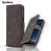Luxury For Iphone 6 Cover Leather Genuine Mesh Check Flip For Iphone 6S Plus Cover Classic