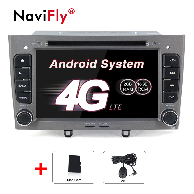 2din Quad Core Android8.1 Car radio <font><b>GPS</b></font> Player For <font><b>Peugeot</b></font> 408 <font><b>308</b></font> wifi 4G LTE bluetooth DVD <font><b>GPS</b></font> 2G RAM support OBD2 DVR DAB+ image