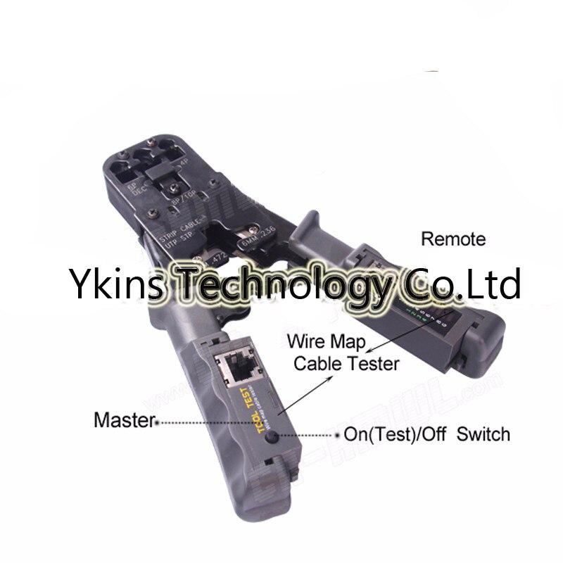 цены Multifunctional Network Crimping Tools for RJ45 Test Crimping Tool with Ratchet Cat6 RJ12 RJ45 RJ50 RJ11(8P8C/6P6C/6P4C)