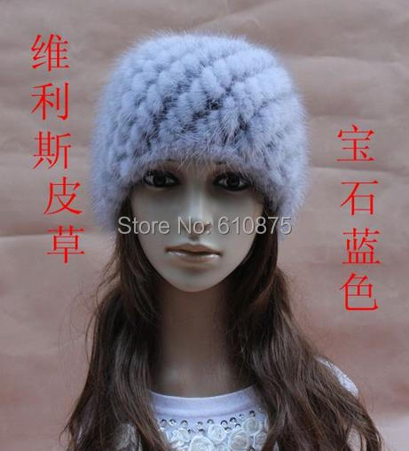 Women High Quality Mink Hair Preparation Hat Fur Hat Thermal Skullies & Beanies Mink Fur Hat Lady Thicken Warm Fox Fur Caps