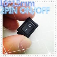 10pcs G130 10 15mm SPST 2PIN ON OFF Boat Rocker Switch 3A 250V Car Dash Dashboard