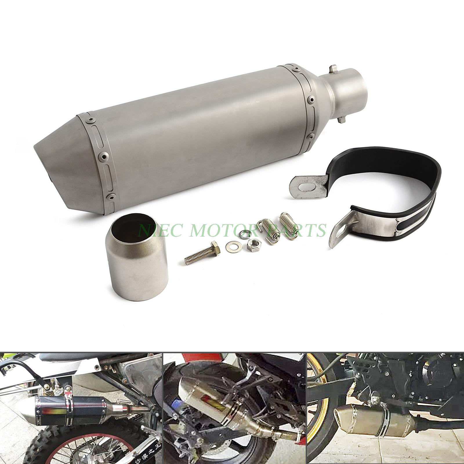 ФОТО Universal 38-51mm Exhaust Muffler With DB Killer For Dirt/Street Bike Scooter ATV  Quad Motorcycle