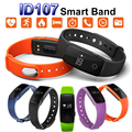 ID107 Bluetooth Heart Rate Monitor Smart Bracelet Band Bangle Watch Smartband Fitness Sports Wristbands for Android iOS Phone