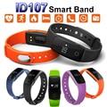 ID107 Monitor de Freqüência Cardíaca Do Bluetooth Inteligente Pulseira Banda Relógio Da Pulseira Smartband Fitness Esportes Pulseiras para Android iOS Telefone