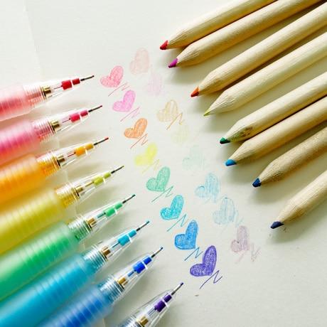 Japan PILOT Mechanical Pencil 0.7mm HCR-197 Color Mechanical Pencil Drawing 8 Color 8PCS