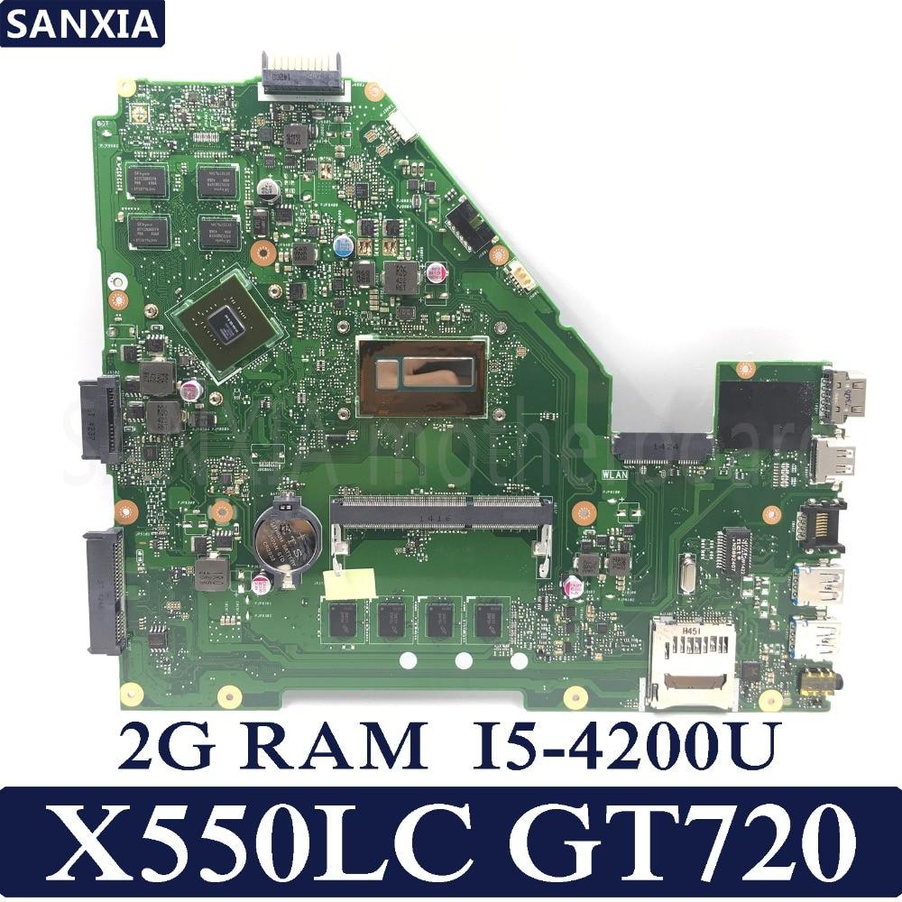 KEFU X550LC Laptop motherboard for ASUS X550LC X550LD A550L Y581L W518L X550LN Test original mainboard 2GB