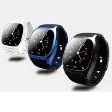 Neue ankunft 3 farben schwarz/weiß/blau M26 Smart Bluetooth Uhr Smartwatch M26 mit Led-anzeige Barometer Alitmeter Musik-player
