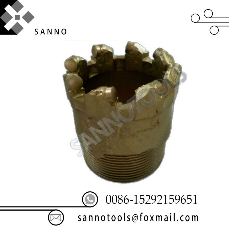 Diamond core drilling bit high hardness water well exploration bit and geological of drill hole for break pebble, rock formation